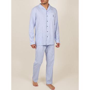 Textiel Heren Pyjama's / nachthemden Admas For Men Innerwear pyjamabroek shirt broek Frisse en Zachte marine Blauw Marine