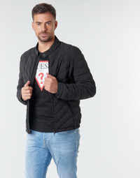 Textiel Heren Dons gevoerde jassen Guess SUPER FITTED JACKET Zwart