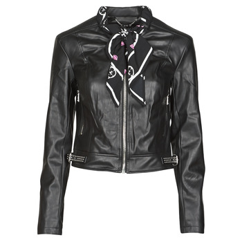 Textiel Dames Leren jas / kunstleren jas Guess NEW JONE JACKET Zwart