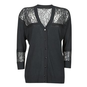 Textiel Dames Vesten / Cardigans Guess IRENE CARDI SWTR Zwart