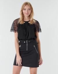Textiel Dames Tops / Blousjes Guess GERDA Zwart