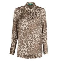 Textiel Dames Tops / Blousjes Guess VIVIAN Luipaard