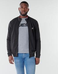 Textiel Heren Sweaters / Sweatshirts Guess AL TRUCK FLEECE Zwart