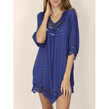 Textiel Dames Tunieken Admas Strandtuniek Ibiza Blauw