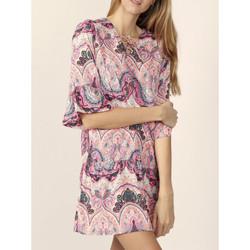 Textiel Dames Korte jurken Admas Roze Kasjmier strandjurk Adma's Lichtroze