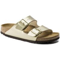 Schoenen Dames Leren slippers Birkenstock Arizona bf Goud