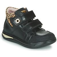 Schoenen Meisjes Hoge sneakers Pablosky 490611 Zwart / Luipaard