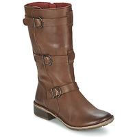 Schoenen Dames Hoge laarzen Kickers GROWUP Bruin / Donker