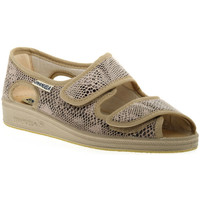 Schoenen Dames Sandalen / Open schoenen Emanuela 667 BEIGE PANTOFOLA Beige