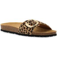 Schoenen Dames Leren slippers Grunland BEIGE 40SARA Beige