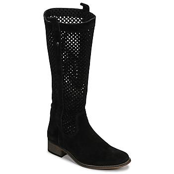 Schoenen Dames Hoge laarzen Betty London DIVOUI Zwart