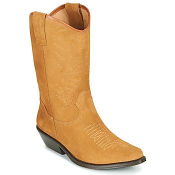 Schoenen Dames Hoge laarzen Betty London LOVA Camel