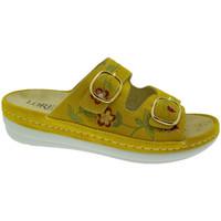 Schoenen Dames Leren slippers Calzaturificio Loren LOB5021gi rosso