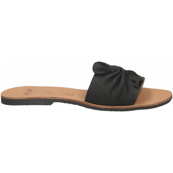 Schoenen Dames Leren slippers Ria VELVET nero
