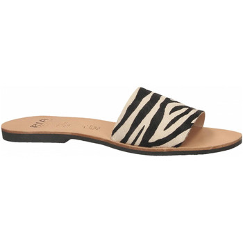 Schoenen Dames Leren slippers Ria HORMA zebra