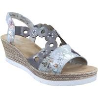 Schoenen Dames Sandalen / Open schoenen Rieker 619d6 Grijs