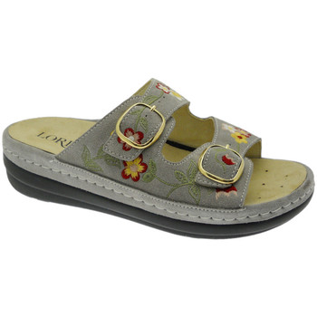 Schoenen Dames Leren slippers Calzaturificio Loren LOB5021ta tortora