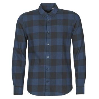 Textiel Heren Overhemden lange mouwen Only & Sons ONSGUDMUND Marine / Zwart