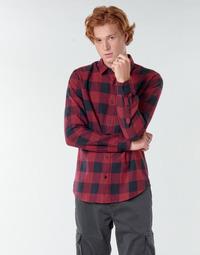 Textiel Heren Overhemden lange mouwen Only & Sons  ONSGUDMUND Bordeau / Zwart