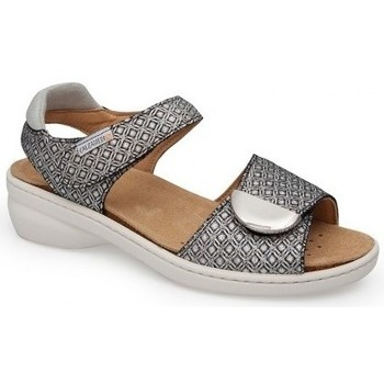 Schoenen Dames Sandalen / Open schoenen Calzamedi SANDAL MET VERSE STIJL ZWART WIT