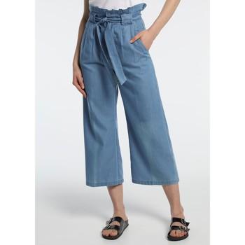 Textiel Dames Losse broeken / Harembroeken Lois pantalon cinturon dael jinx bleu clair 206902042 Blauw