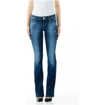 Textiel Dames Skinny jeans Liu Jo Blue Denim BOTTOM UP REPOT REG.W. 77850-den-blue-favor-wash