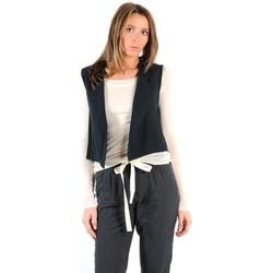 Textiel Dames Vesten / Cardigans American Vintage GILET LEA134E11 CARBONE Grijs