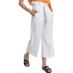 Textiel Dames Losse broeken / Harembroeken Lois pantalon cinturon dael jinx blanc 206902042 Wit