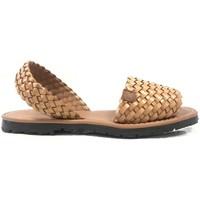 Schoenen Dames Sandalen / Open schoenen Popa California Marron Tressé 37403 003 Bruin