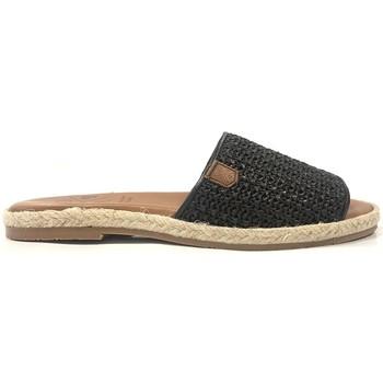Schoenen Dames Leren slippers Popa San Andres Noir 46502 002 SOFT Zwart