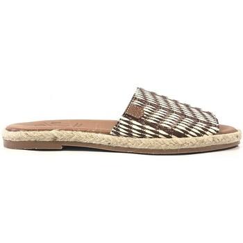 Schoenen Dames Leren slippers Popa San Andres Marron 32101 004 SOFT Bruin