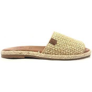 Schoenen Dames Leren slippers Popa San Andres Beige 46501 003 SOFT Beige
