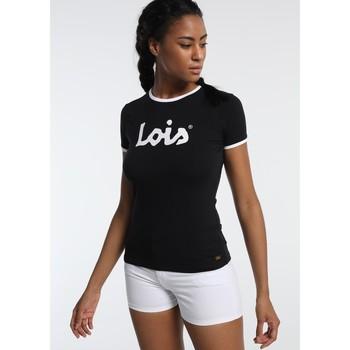 Textiel Dames T-shirts korte mouwen Lois T Shirt Noir 420472094 Zwart