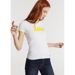 Textiel Dames T-shirts korte mouwen Lois T Shirt Blanc 420472094 Wit