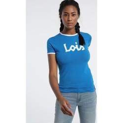 Textiel Dames T-shirts korte mouwen Lois T Shirt Bleu 420472094 Blauw