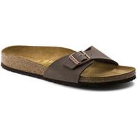 Schoenen Dames Leren slippers Birkenstock Madrid bf Bruin