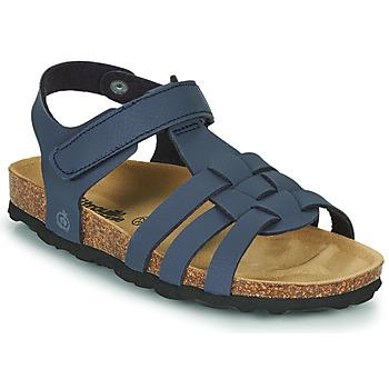 Schoenen Jongens Sandalen / Open schoenen Citrouille et Compagnie JANISOL Blauw