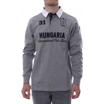 Textiel Heren Polo's lange mouwen Hungaria  Grijs
