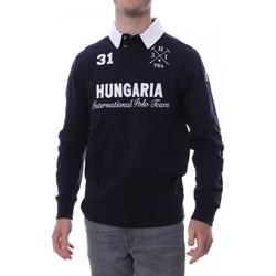 Textiel Heren Polo's lange mouwen Hungaria  Blauw