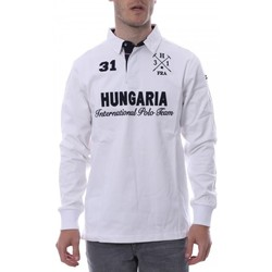 Textiel Heren Polo's lange mouwen Hungaria  Wit