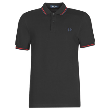 Textiel Heren Polo's korte mouwen Fred Perry TWIN TIPPED FRED PERRY SHIRT Zwart / Sir / Cb
