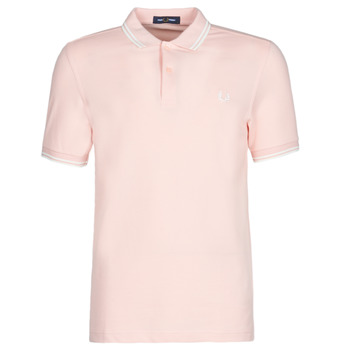 Textiel Heren Polo's korte mouwen Fred Perry TWIN TIPPED FRED PERRY SHIRT Roze
