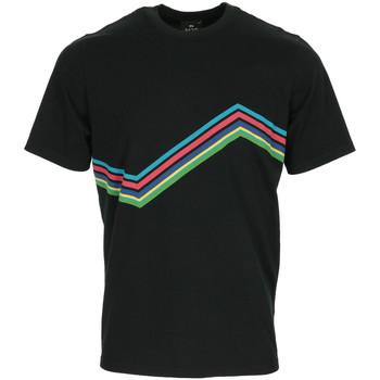Textiel Heren T-shirts korte mouwen Paul Smith Tee Shirt Regular Fit Ziggy Zwart