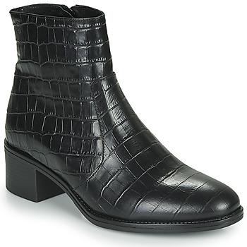 Schoenen Dames Enkellaarzen Betty London NOUME Zwart