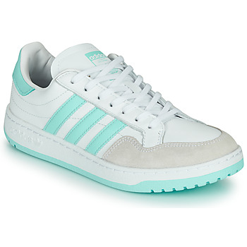 Schoenen Lage sneakers adidas Originals TEAM COURT W Wit / Turquoize