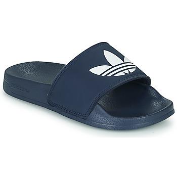 Schoenen Kinderen Lage sneakers adidas Originals ADILETTE LITE J Marine / Wit