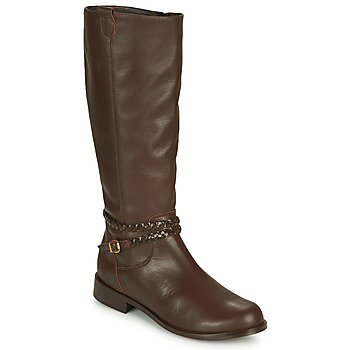 Schoenen Dames Hoge laarzen So Size AURELIO Bruin
