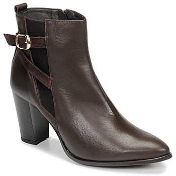 Schoenen Dames Enkellaarzen So Size AURELIO Bruin
