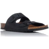 Schoenen Heren Leren slippers Interbios 7206 Zwart