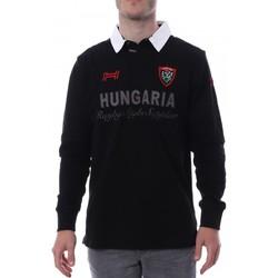 Textiel Heren Polo's lange mouwen Hungaria  Zwart